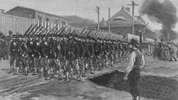 The first troops enter Homestead, Pennsylvania, to end the strike at the Carnegie Company