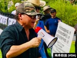 中國民主黨洛杉磯委員會主席陳維明資料照。 (美國之音,2019年9月)