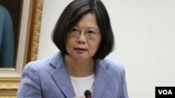 台湾民进党总统候选人蔡英文 (美国之音杨明拍摄)