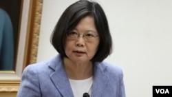 民進黨總統候選人蔡英文(美國之音楊明攝)