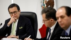Mexico's Economy Minister Ildefonso Guajardo listens during the presentation of Mexico's negotiating team for the renewal of the North American Free Trade Agreement (NAFTA) in Mexico City, Mexico, August 2, 2017.