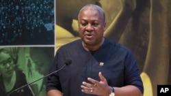FILE - Ghana President John Dramani Mahama.