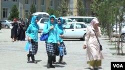 په کابل کې د یو افغان-ترک د ښوونځي شاگردانې