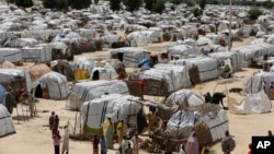 Le plus grand camp de déplacés à Maiduguri, Nigeria, le 28 août 2016.