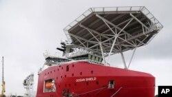 음향탐지기로 해저를 수색하는 호주 선박 오션 실드호 (자료 사진)
