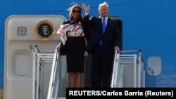 Президент США Дональд Трамп з дружиною Меланією прибули в Лондон 3 червня з триденним державним візитом