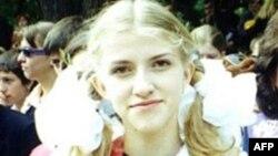 Екатерина Затуливетер. Фотография предположительно сделана на выпускном вечере Е. Затуливетер