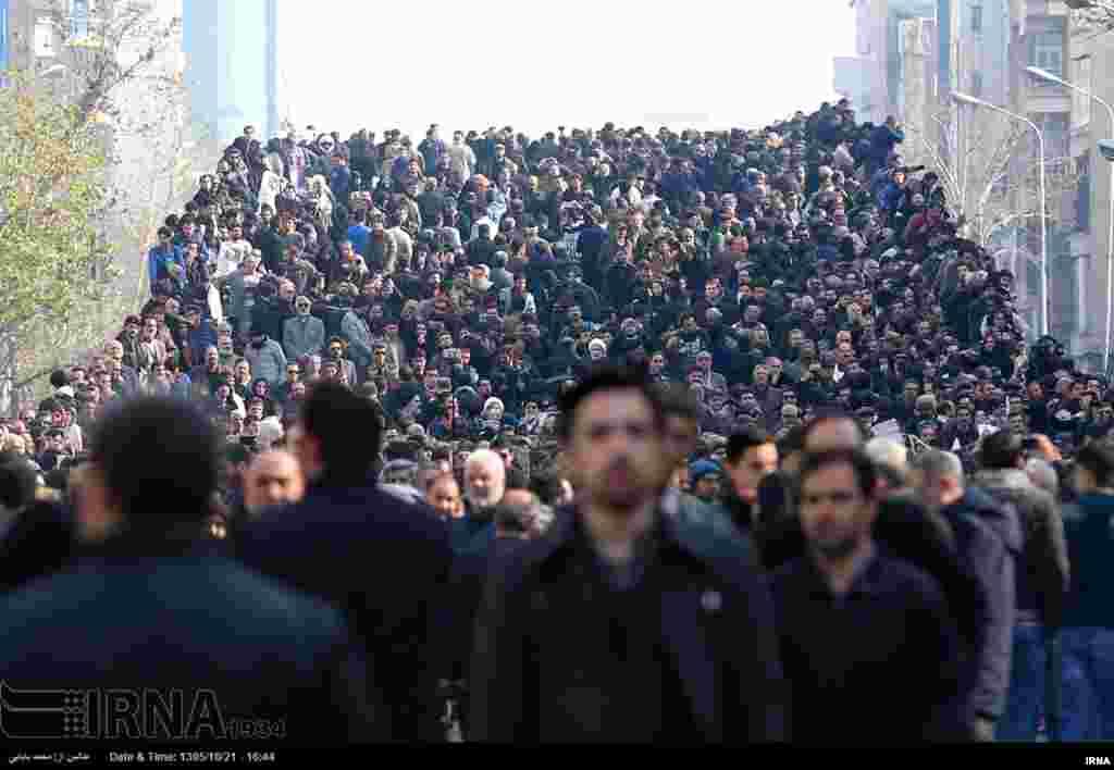 مراسم تشییع پیکر اکبر هاشمی رفسنجانی در تهران.