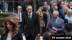 Crnogorski predsednik Filip Vujanović i britanski princ Čarls na Cetinju