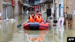 Tình trạng ngập lụt ở Trung Quốc.