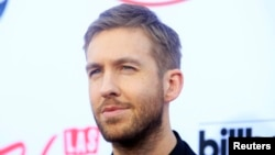 Musician Calvin Harris arrives at the 2015 Billboard Music Awards in Las Vegas, Nevada, May 17, 2015.