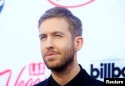 Musician Calvin Harris arrives at the 2015 Billboard Music Awards in Las Vegas, Nevada, May 17, 2015.