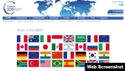 二十國集團工商峰會(B20)網頁截圖