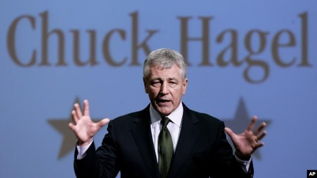 Cựu Thượng nghị sĩ Chuck Hagel, người được đề cử vào chức vụ Bộ trưởng Quốc phòng Hoa Kỳ