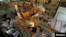 FILE - A nuclear reactor is seen at a nuclear research facility in Kyiv, Ukraine, March 23, 2012.