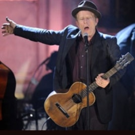 Inductee Tom Waits performs at the Rock and Roll Hall of Fame induction ceremony March 14, 2011, in New York