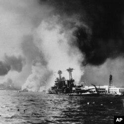 日軍偷襲珍珠港擊沉加尼福尼亞號(USS California)