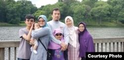 Shafiya Salahudin bersama keluarga di AS (dok: Shafiya Salahuddin)