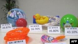Hóa chất phthalate được phát hiện trong các và đồ chơi cho trẻ em (hình trên)