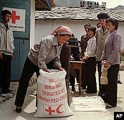國際社會向北韓運送的糧食(資料圖片)