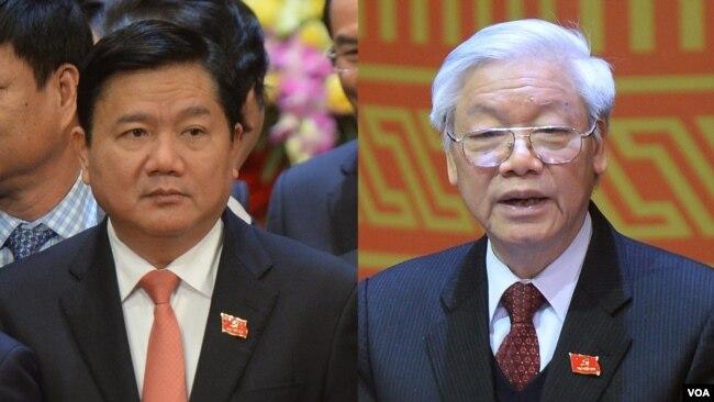 Ông Đinh La Thăng và ông Nguyễn Phú Trọng