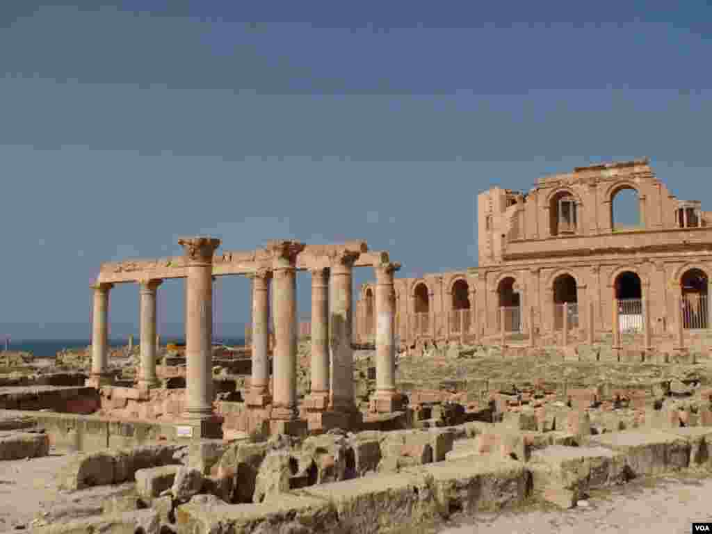 This 2009 file photograph shows the ruins of Sabratha, a Phoencian, later Roman port city, that has drawn tourists for centuries. (VOA-E. Arrott)