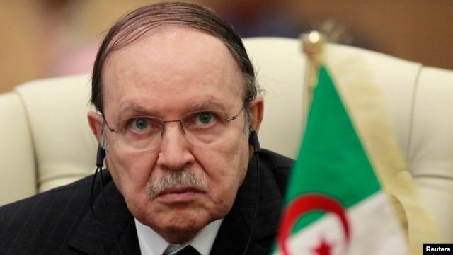 FILE - Algeria's President Abdelaziz Bouteflika