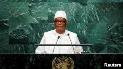 Le président du Mali Ibrahim Boubacar Keita devant les Nations unies, à New York, le 23 septembre 2016.