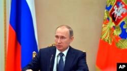 Ruski predsednik Vladimir Putin na sastanku vlade (arhivski snimak)