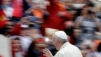Ðức giáo hoàng Phanxicô tại Quảng trường Thánh Phêrô ở Vatican trong buổi tiếp kiến giáo dân hàng tuần (ảnh tư liệu ngày 18/10/2017).