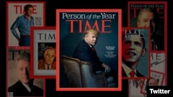 Presiden Terpilih AS, Donald Trump pada sampul majalah Time (Photo: Twitter via @TIME )