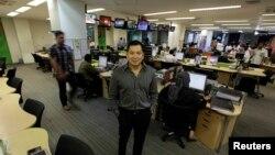 CEO MNC Group Hary Tanoesoedibjo di kantor editorial MNC di Jakarta. (Foto: Dok)