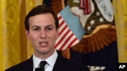 Funcionarios estadounidenses dicen que los principales autores del plan son el yerno del presidente Donald Trump y asesor sénior Jared Kushner (en la foto) y el enviado especial de Trump para negociaciones internacionales Jason Greenblatt