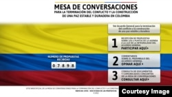 Screen shot of the Mesa de Conversaciones website.