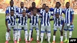 Les joueurs de la Sierra Leone avant le match de qualification pour la Coupe d'Afrique des nations 2017 entre la Côte d'Ivoire et la Sierra Leone, au Stade de la Paix de Bouaké le 3 septembre 2016.