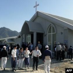 大爱园区内盖的基督教堂