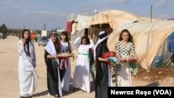 Êzîdîyên Efrînê Cejna Xizir Îlyas pîroz dikin