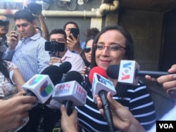 Lucía Pineda, periodista de 100% Noticias en Managua, Nicaragua, es liberada de prisión y pasada a detención domiciliaria el 27 de febrero de 2019.