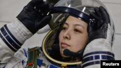 Nữ phi hành gia Trung Quốc Vương Á Bình.