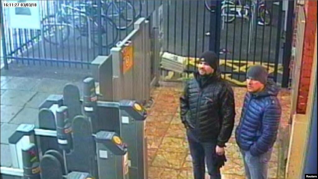 Александр Петров и Руслан Боширов в Солсбери, Великобритания. 3 марта 2018 г.