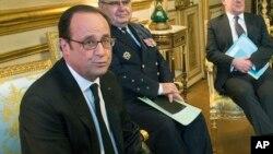 Le président français François Hollande , 21 février 2017