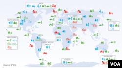 Les impacts attribués au changement climatique