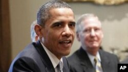 美国总统奥巴马和国会领袖7月13日继续在白宫商讨美国政府借贷上限