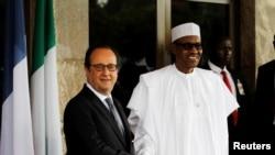 Shugaban kasar Faransa Francois Hollande da shugaban Najeriya Muhammadu Buhari