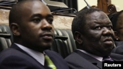 Nelson Chamisa and Morgan Tsvangirai