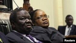 Unkosikazi Joice Mujuru eloMnu. Morgan Tsvangirai.