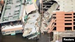 Разрушенные ураганом здания в Билокси, Миссиссипи