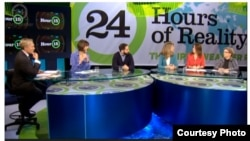 The 24-hour webcast includes panel discussions with scientists, elected officials, business leaders and activists. It takes viewers around the globe to witness the impact of climate change. (Climate Reality Project)