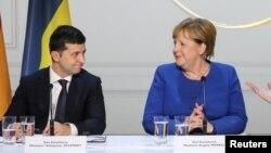Владимир Зеленский и Ангела Меркель (архивное фото)