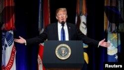 El presidente Donald Trump participió el jueves 17 de enero de 2018 en el evento de Revisión de Defensa de Misiles en el Pentágono.
